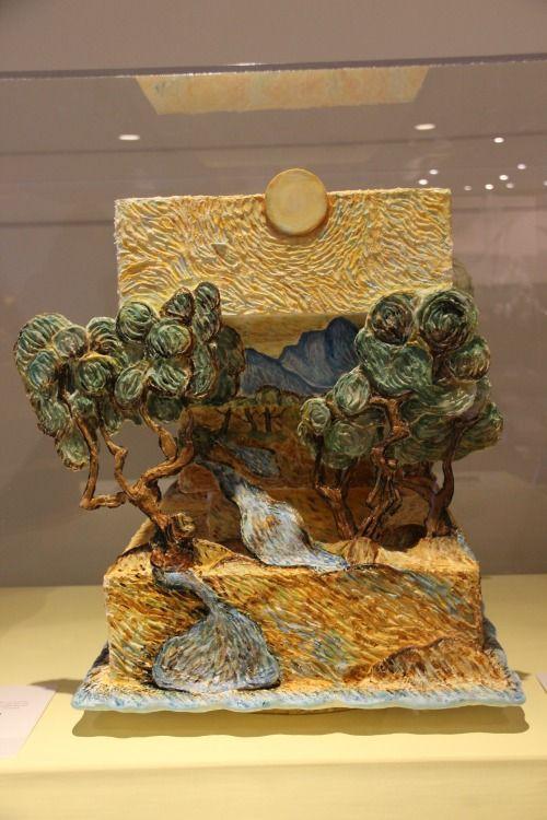 Van Gogh inspired cake at the Minneapolis Institute of Art 100th birthday celebration