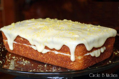 Limoncello Pound Cake With Mascarpone Lemon Frosting