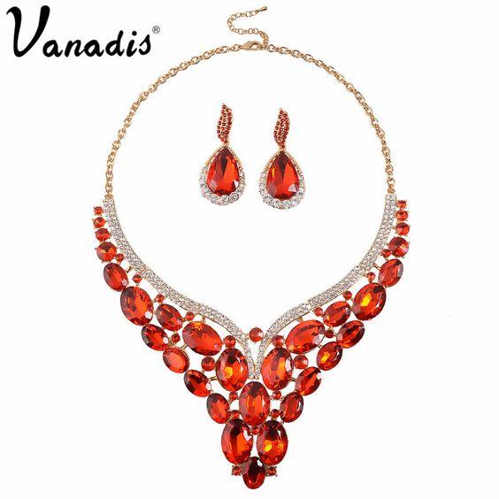 Cheap Perlas Africanas de La Joyería de Moda de lujo Cristalino Grande…