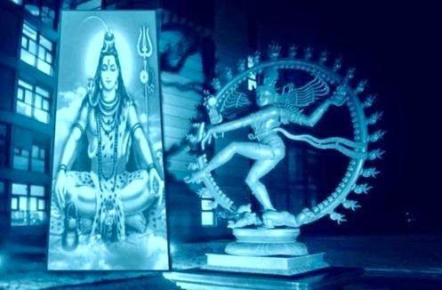 A Ligação do Large Hadron Collider, com Símbolo de Shiva TRIDENT de Destruição e Catástrofes