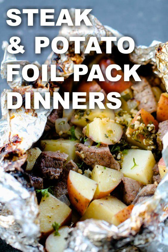 Steak and Potato with Garlic Butter Foil Packet Dinners