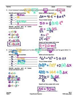 26++ Kinematics problems worksheet with answers Information