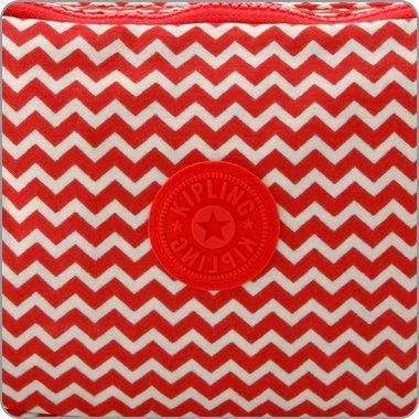 KIPLING TASCHEN : Schultertasche Reth - Chevron Red Print