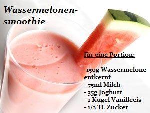Rezept für einen Wassermelonesmoothie