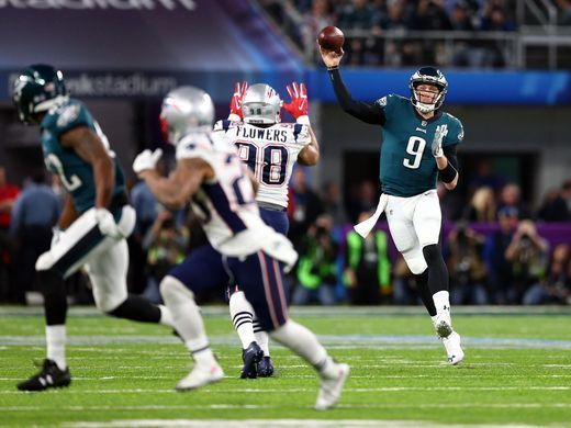 Nick Foles Trick Play Td Catch In Super Bowl Was True Philly Special Super Bowl Sports Images Philadelphia Eagles