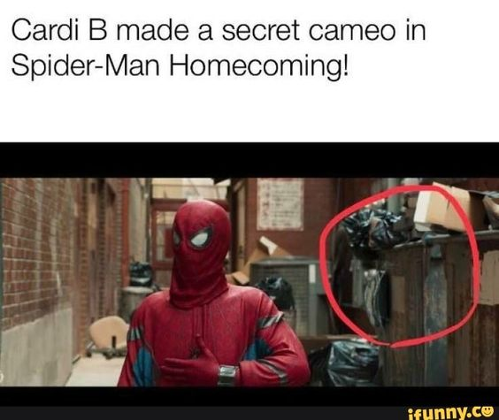 Cardi B Made A Secret Cameo In Spider Man Homecoming Ifunny