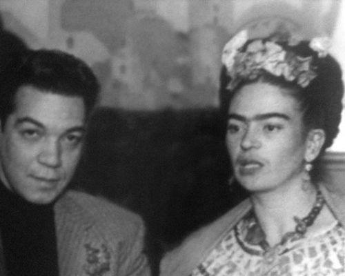 Frida Kahlo con Cantinflas