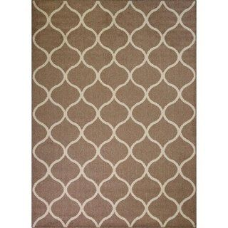 Maples Rugs Moscow Trellis Area Rug 5 X7 5 X 7 Caf Brown