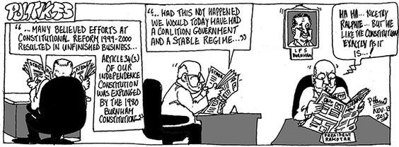 Politikles - No need for change November 13, 2013