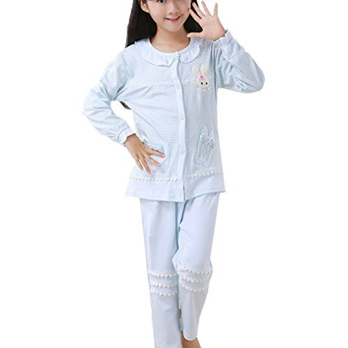 BAIYIXIN Big Boys Cotton Long Sleeve Pajamas Set Gray Sleepwear