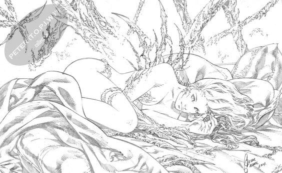Witchblade  classic  commission by Cesar R. Gaspar Gonzalez Comic Art