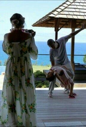 Beyoncé curtindo com a família