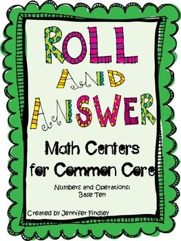 Roll and Answer Self Checking Math Centers for Common Core Math
