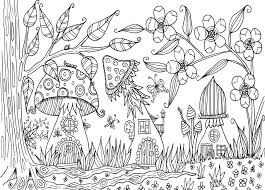 Image Result For Zentangle Fairy Garden Mushroom Fall Coloring Pages Enchanted Forest Coloring Book Coloring Pages
