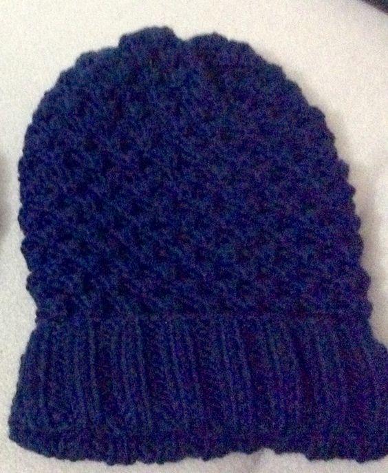 Örgü bere.dark blue.