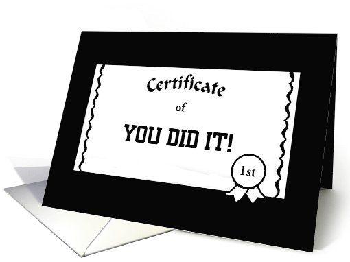 CongratulationsCertificate OfYou Did ItCustomizable Card – Congratulations Certificate