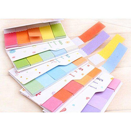 süß Regenbogen Farben Aufkleber Lesezeichen Marker Memo Markierung Anmerkung Büro Heim Notizzettel Index Tab Haftnotizen HuntGold http://www.amazon.de/dp/B00UFKJWU4/ref=cm_sw_r_pi_dp_mhHqvb0DNXFWH