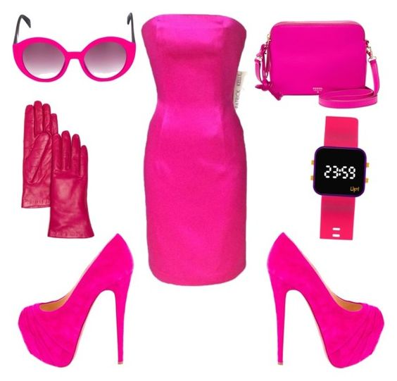 Bored of white by gottalottaprada on Polyvore featuring polyvore, fashion, style, Christian Louboutin, FOSSIL, Bloomingdale's, Italia Independent and clothing