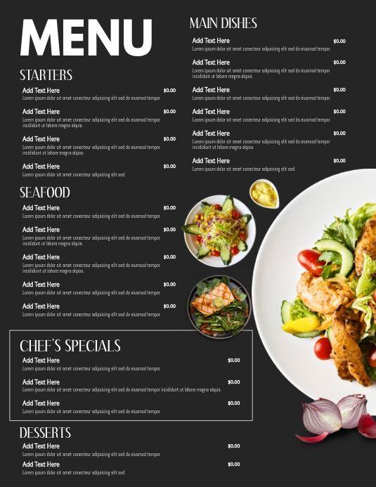 Menu Design Templates Food Menus For Restaurants Menus For Bars