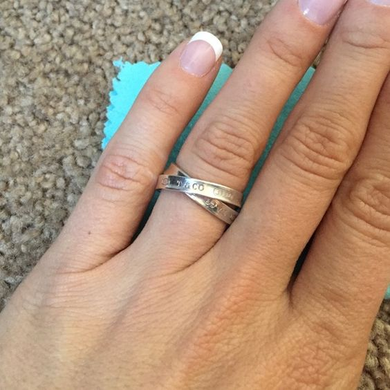 Tiffany's & co. Ring size 7 Tiffany's & Co. Double ring size 7. In perfect condition!! Sterling silver! Tiffany & Co. Jewelry Rings