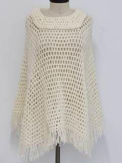 1970's Womens Hippie Poncho Sweater