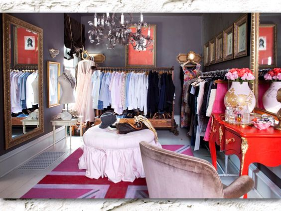 A spare bedroom turned into a closet without having to renovate the room! I want to do this in my new house!