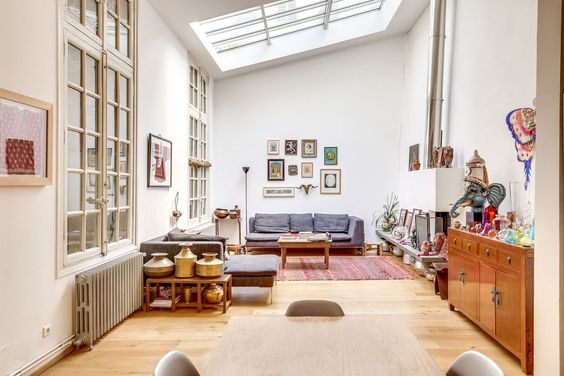 Property Of The Week A Converted Artist S Atelier In Paris Interior Artist House Living Spaces