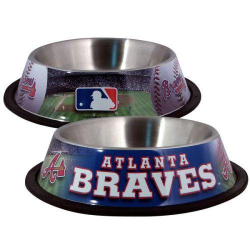 Atlanta Braves Stainless Dog Bowl from RadioFence.com $17.95 (http://www.radiofence.com/atlanta-braves-stainless-dog-bowl/)