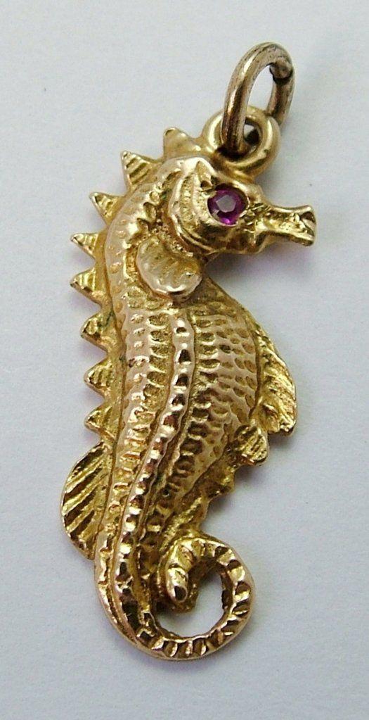 9ct Yellow Gold Seahorse Pendant