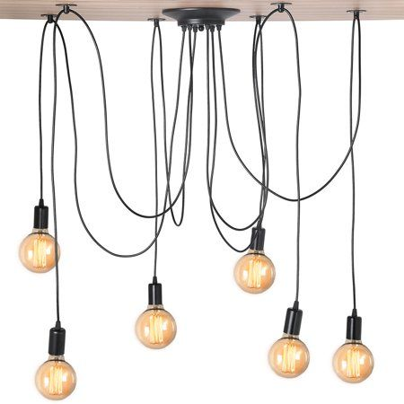 Pendant Light Rack Industrial Vintage Style Pendant Light Holder Ceiling Lamp Rack Vintageindustrial Vintage Pendant Lighting Spider Lamp Ceiling Lamp