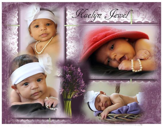 """Unique collage I designed using Kaelyn's great great grandmothers hat and pearls . . . """"a touch of class""""!"""