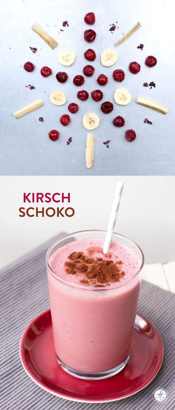 #SmoothieMontag Kirsch-Schoko-Smoothie | cherry-chocolate-Smoothie