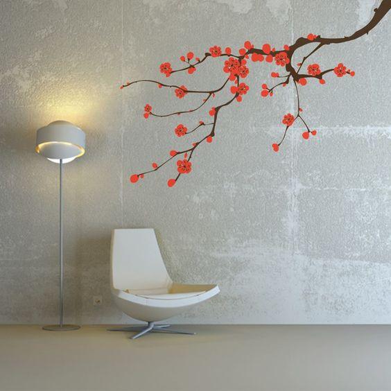 vinilo nuevo dekovinilos decoracion vinilos arbol flores