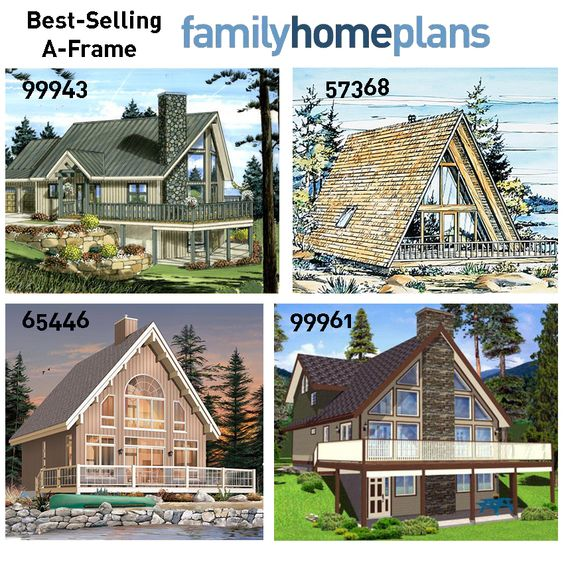 Best Selling A Frame House Plans   A Frame House Plans  A Frame    A Frame house plans are often built in cold climates where the steep pitched roof aids in shedding heavy snowfall  Suited for lakeside retreats or everyday