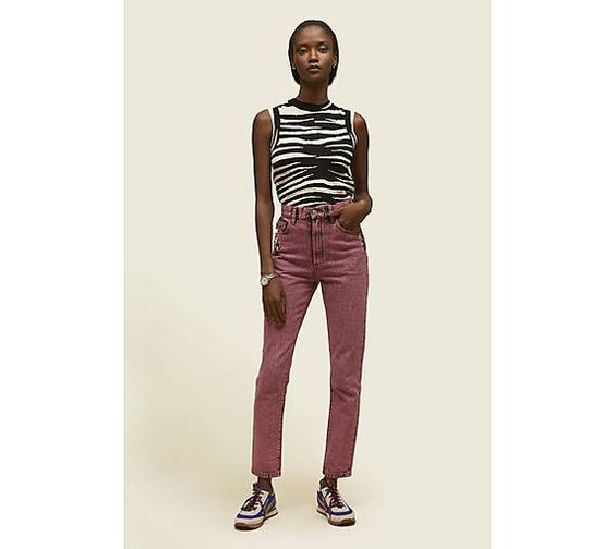 Pink Flood Stovepipe Denim Jeans - Marc Jacobs