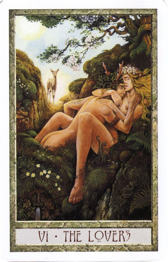 The Lovers from the Druid Craft Tarot - http://www.amazon.com/Druid-Craft-Tarot-Deck-Celebrate/dp/1859062733/ref=sr_1_1?ie=UTF8&qid=1384735422&sr=8-1&keywords=druid+craft+tarot