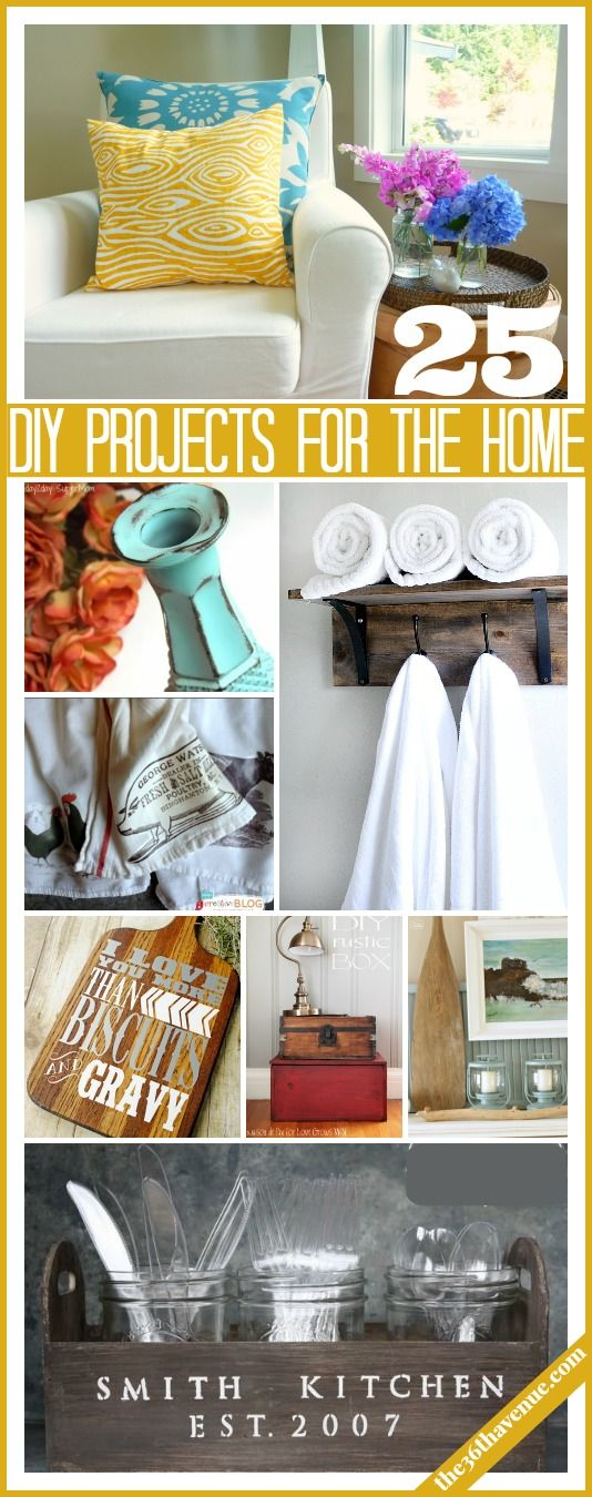25 Pretty cute DIY ways to give your home a new look!  the36thavenue.com #home #diy