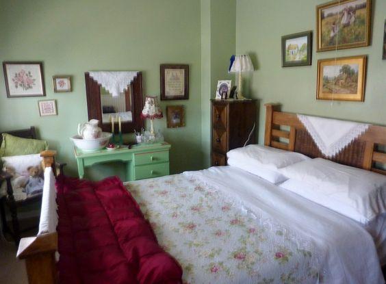 shabby chic , vintage frugal bedroom makeover