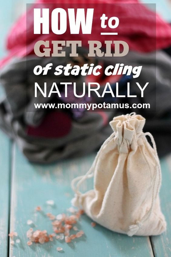 Get Rid Of Static Cling On Clothes Naturally