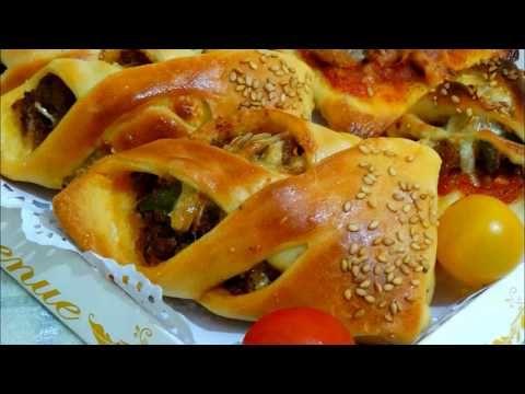 تشكيل مملحات سهلة وبنييييييينة بعجينة سهلة وهشيييشة شهيوات مضان2018 Youtube Food Bagel Bread