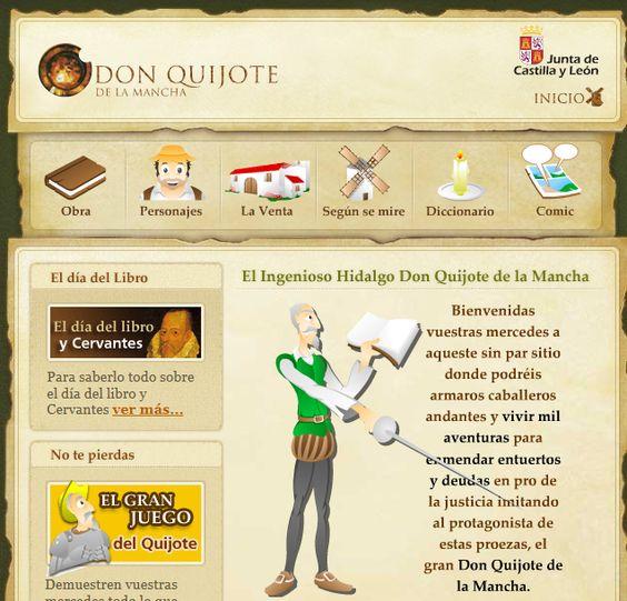 Portal de la Junta de Castilla y León para enseñar Don Quijote a niños y niñas:
