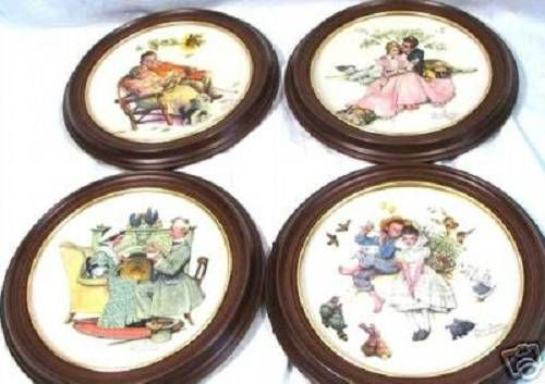 Norman Rockwell - 1973 and 1978 Ltd Edition Seasons Plates