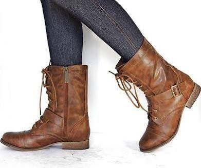 Brown boots Brown combat boots and Brown on Pinterest