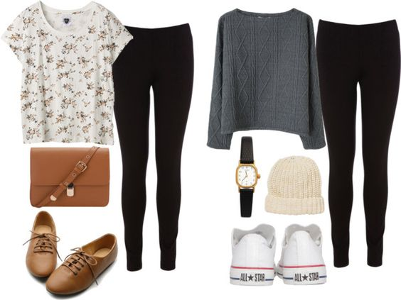 Outfits with leggings Simple school outfits and School outfits on Pinterest
