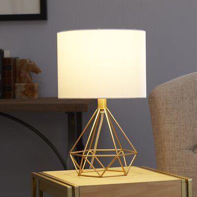 Mercer41 Hatley Celeste Wire Prism 26 Table Lamp Gold Table Lamp Table Lamp Rope Table Lamps