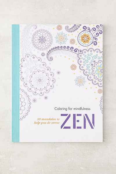 Coloring For Mindfulness Zen: 50 Mandalas To Help You De-Stress By Hamlyn - Urban Outfitters