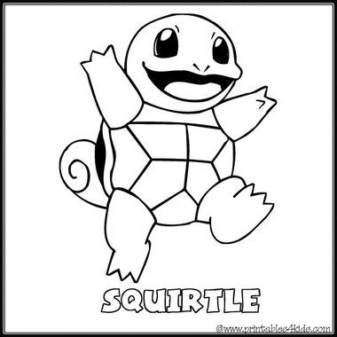 Printable pokemon coloring pages squirtle ~ Pinterest • The world's catalog of ideas