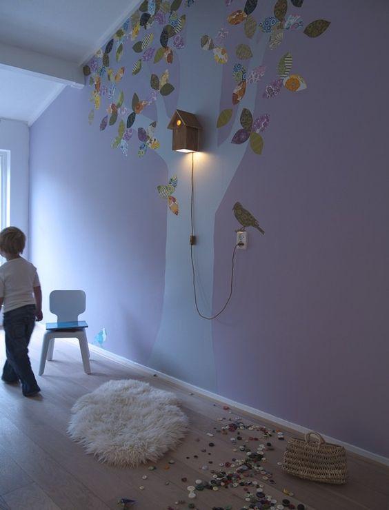 """Inke"""" handgemachte Vogelhaus-Lampe aus massivem Eichenholz ..."""