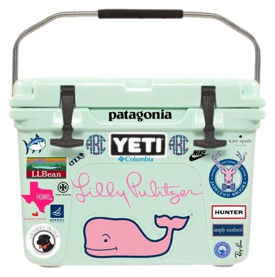 """Yeti Cooler!!!"" by evieleet ❤ liked on Polyvore featuring Vineyard Vines, L.L.Bean, Southern Proper, Southern Tide, Patagonia, Hunter, Kate Spade, Sperry Top-Sider, Ray-Ban and Columbia Sportswear"