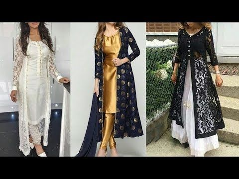 Youtube Long Kurti Designs Shrug For Dresses Long Dress Design